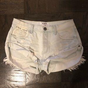One Teaspoon Light wash shorts